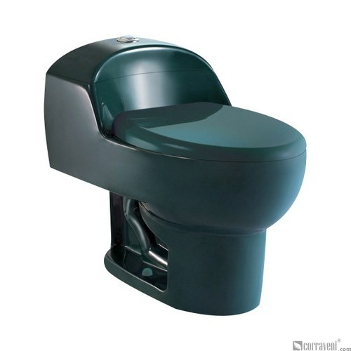 SH111-Dark Green ceramic siphonic one-piece toilet