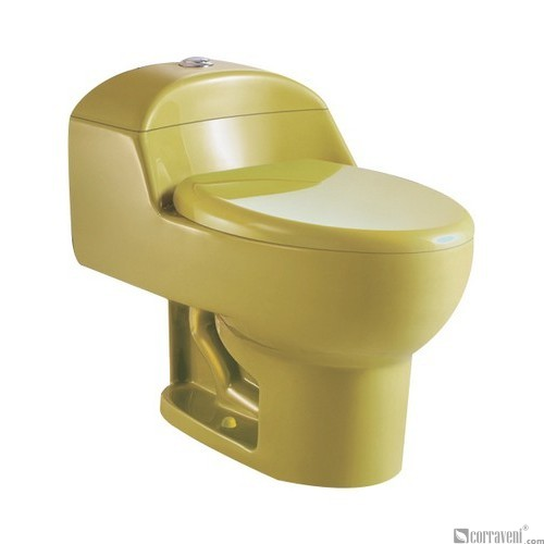 SH111-Apple Green ceramic siphonic one-piece toilet