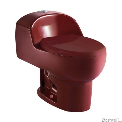 SH111-Agate Red ceramic siphonic one-piece toilet