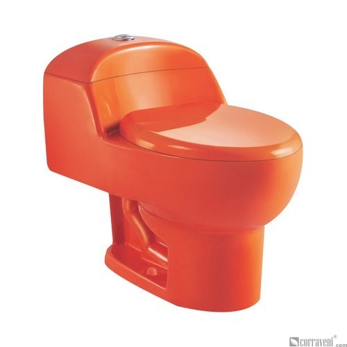 SH111-Orange Red ceramic siphonic one-piece toilet