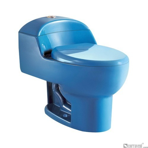 SH111-Blue ceramic siphonic one-piece toilet