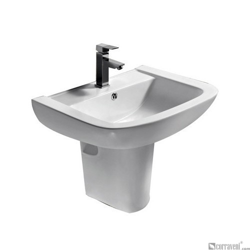ZT142 ceramic semi-pedestal basin