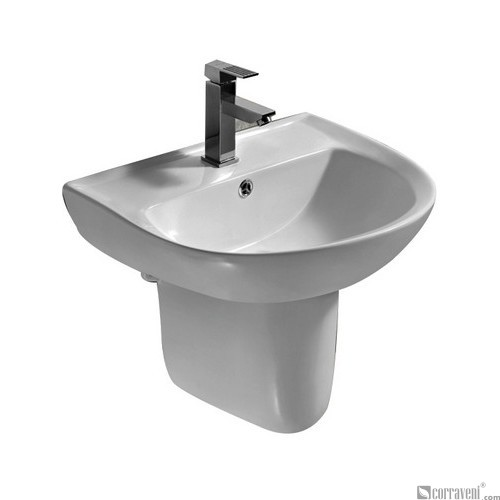 SH242 ceramic semi-pedestal basin