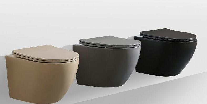 Matte Color Wall-hung Rimless Toilet Series